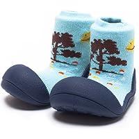 Attipas Giraffe Baby Walker Shoes, Navy, Medium
