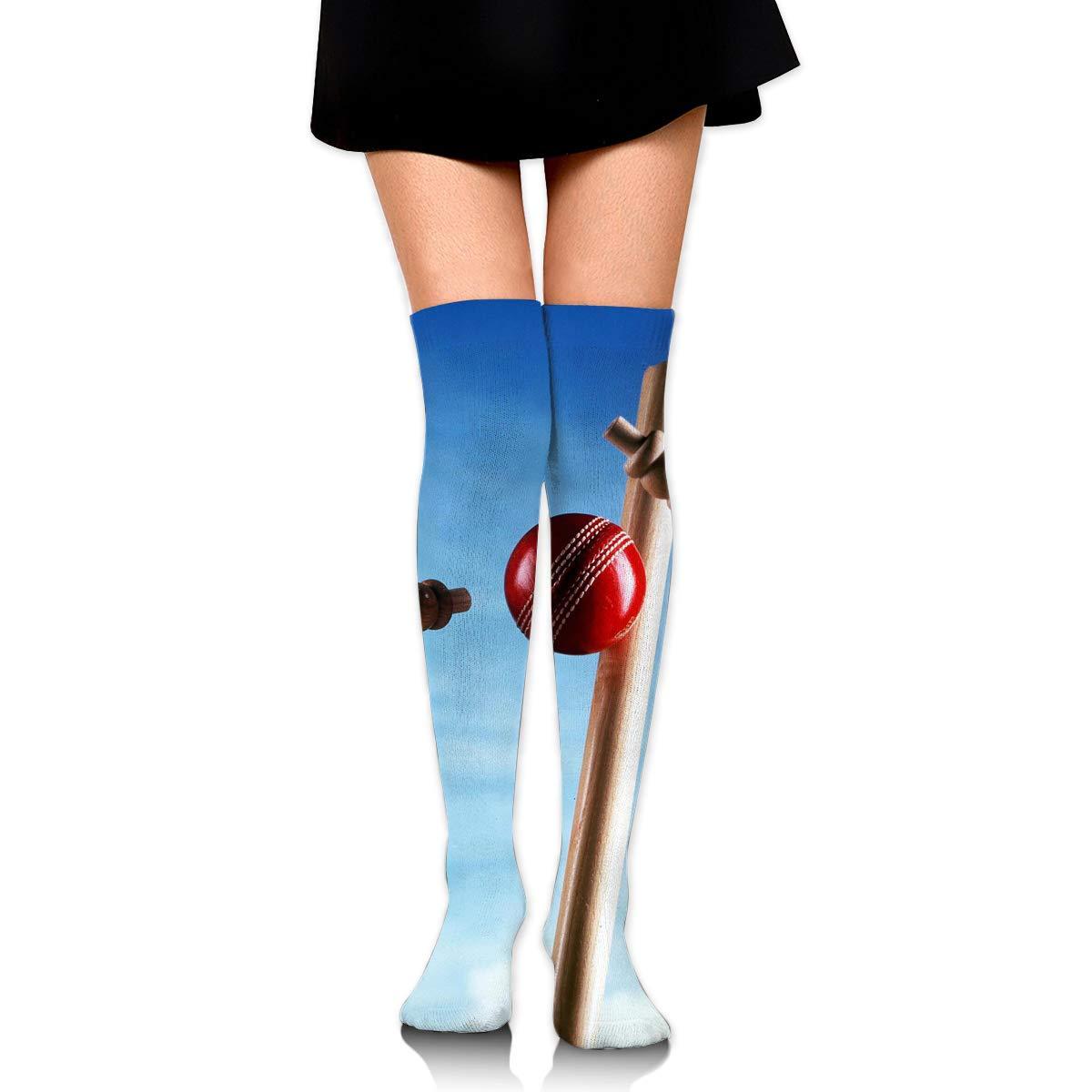 High Elasticity Girl Cotton Knee High Socks Uniform Red Cricket Women Tube Socks
