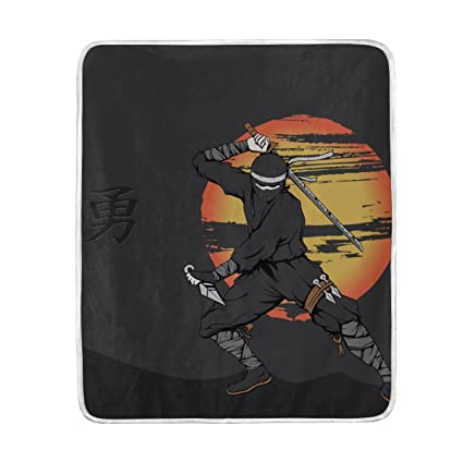 Amazon.com: sunlome japonés de ninja patrón suave cálido ...