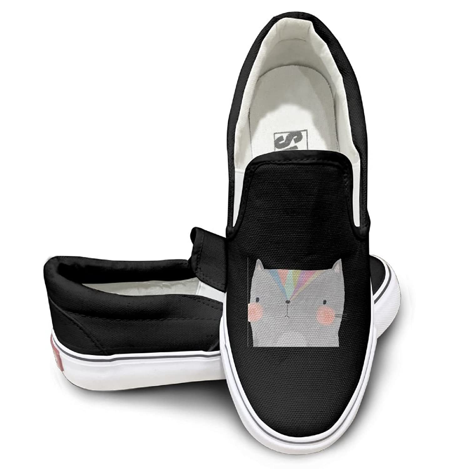 Cartoon Cat Mens Wowens Casual Loafers Classic Driving Boat Shoes