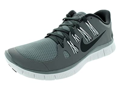 Nike Mens Free 5.0+ Breathe Running Cool Grey  Anthracite  White  Synthetic Shoe -