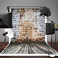 MOHOO 5x7ft Canvas Photography brick wall background Photo Studio Props backdrop Background for Photo Video Studio(Background Only)