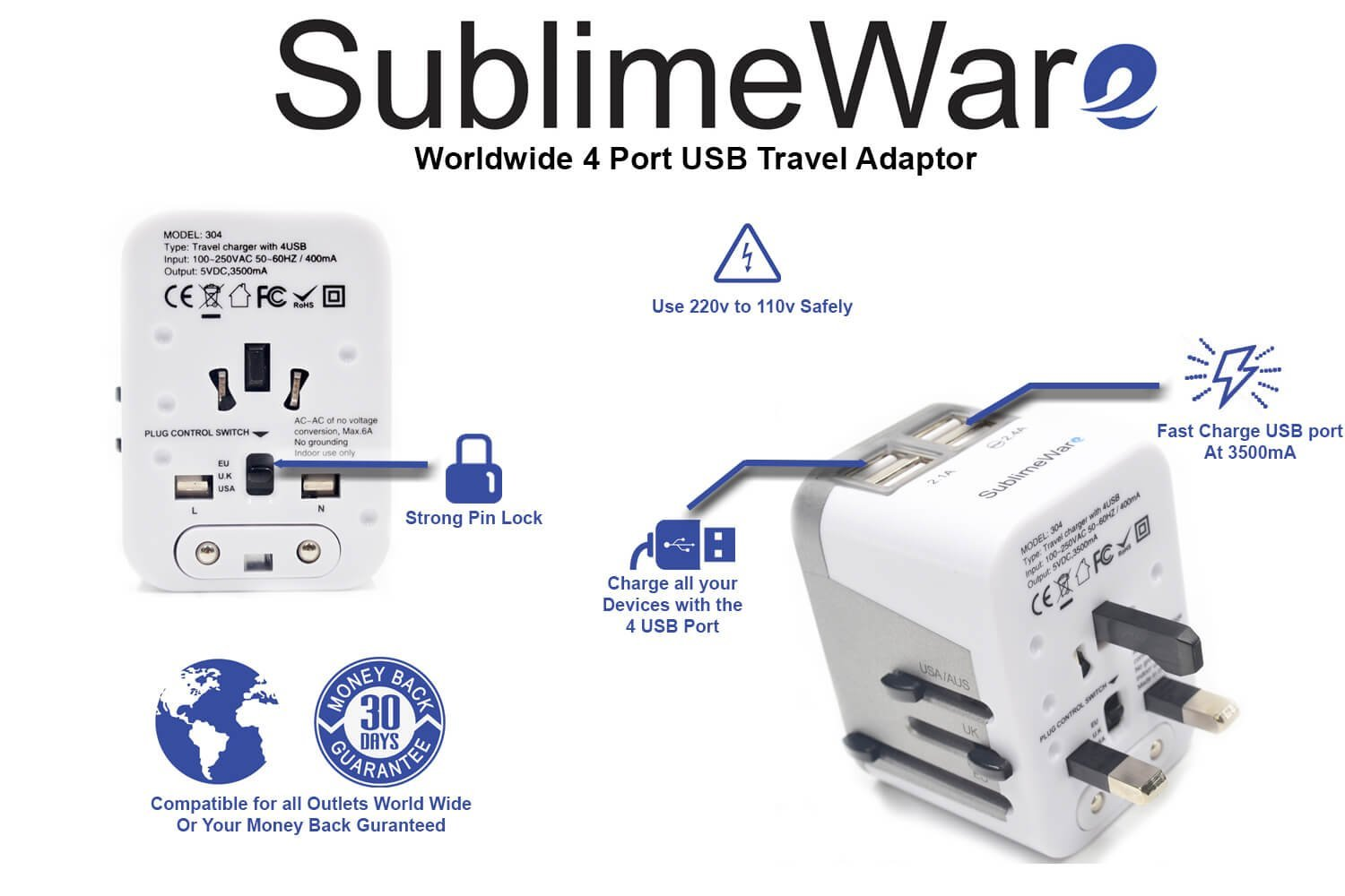 Amazon.com: SublimeWare - Adaptador de enchufe de ...