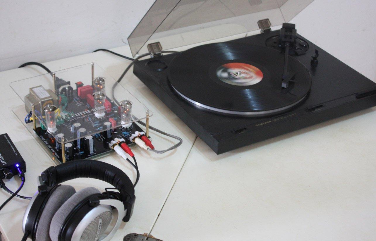 Amazon.com: Little Bear Tubo Válvula Phono Turntable RIAA mm ...
