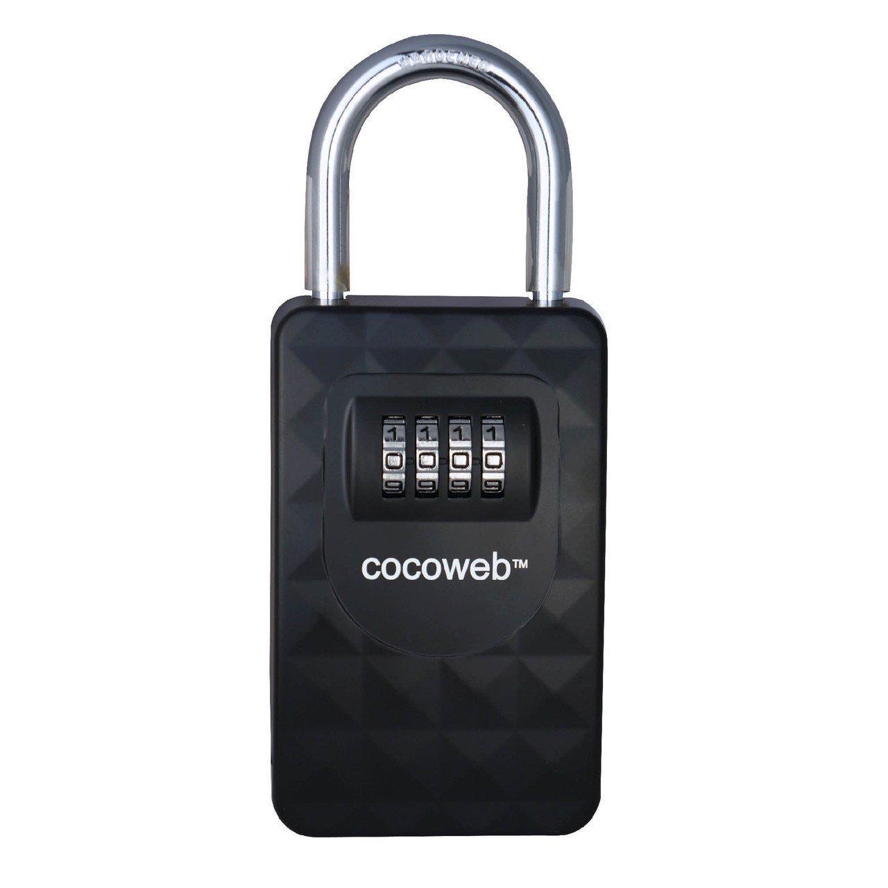 Cocoweb HKPV-S | Heavy duty combination storage lock box - Hanging Shackle, Black