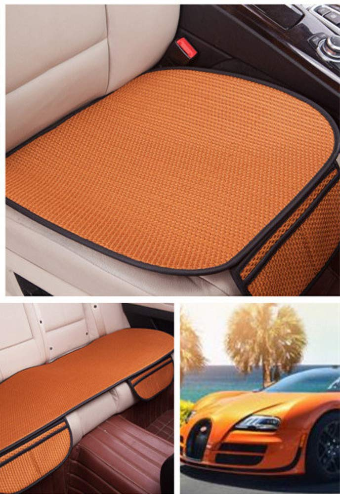 GLITZFAS Auto Sitzauflage Autositzauflage Universal Sommer Autositzbezug Auto Vordersitz R/ücksitz Kissen 3pcs,Orange