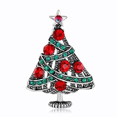Broches de árbol de Navidad Decoración Joyería Regalo para los niños Niñas Rhinestones Broche de Moda Broche de Moda Pin: Amazon.es: Joyería