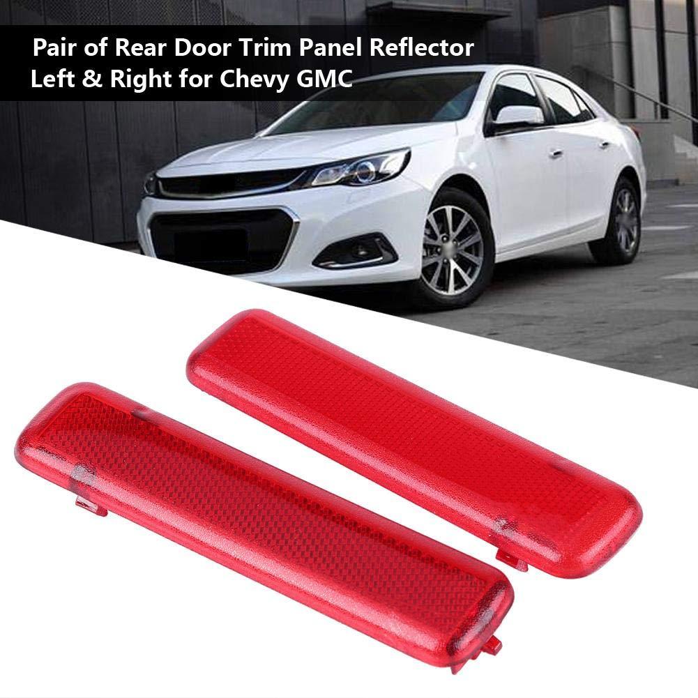 1 Pair of Door Trim PanelRear Door Trim Panel Reflector Left /& Right for Chevy GMC 15183155 15183156