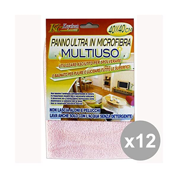 Set of 12 BIB Multipurpose Microfiber cloth 40X40 Cm. Cleaning tools