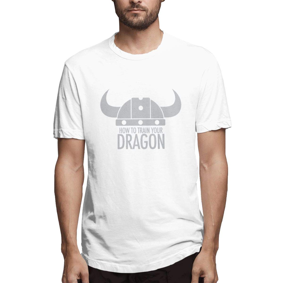 VIIHAHN Men Design How to Train Your Dragon Tennisround Neck Short Sleeve T Shirt