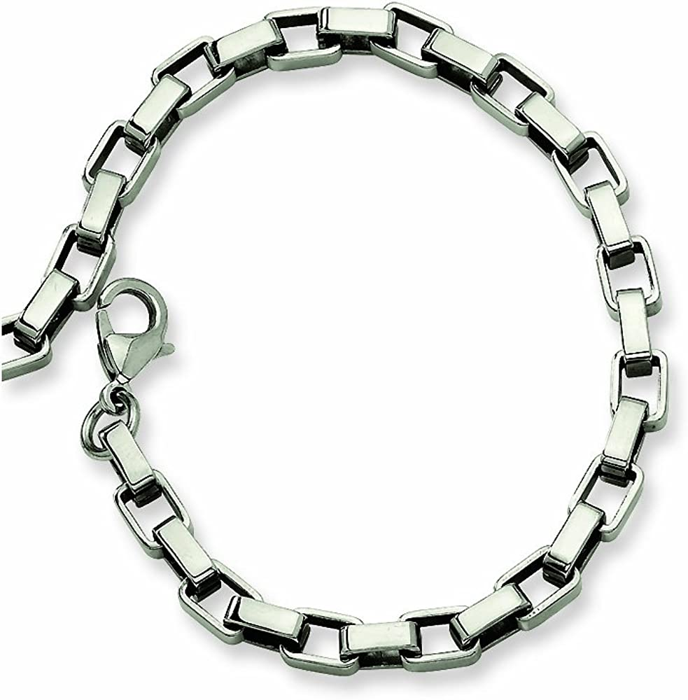 Chisel Stainless Steel Link Bracelet 8 inches