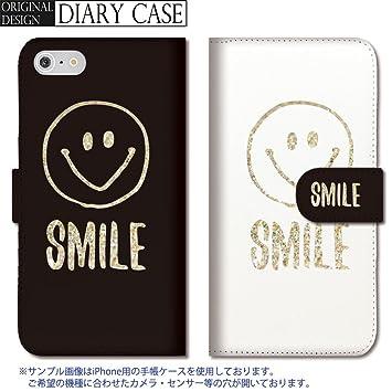 54dfc0410d 301-sanmaruichi- iPhoneSE ケース iPhone5s ケース iPhone5 ケース 手帳型 おしゃれ スマイル smile  ホワイト