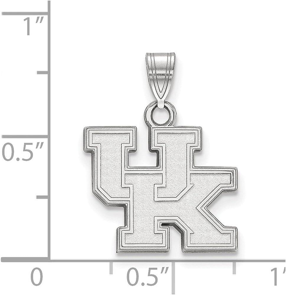White Sterling Silver Charm Pendant Kentucky NCAA University Of 20 mm 16