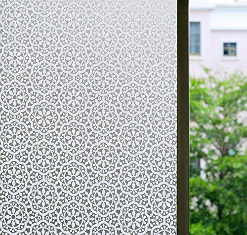 Door Requires Custom Panel (Bloss Sliding Glass Door Window Film Non Adhesive Window Cling (17.7