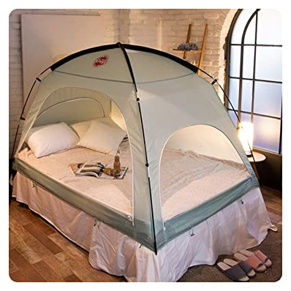 Amazon.com: Floor less Indoor Privacy Tent on Bed Blackout keep
