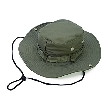 e82174b31c2 Outdoors Fishing Hats Round Rim Bucket Hat Cap UV Protection Sun Hat for  Women Men Hiking Camping Traveling
