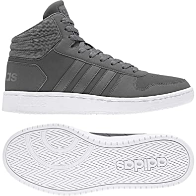 newest ab90b 58984 adidas Hoops 2.0 Mid, Chaussures de Fitness Homme, Gris GricuaGricin 000,
