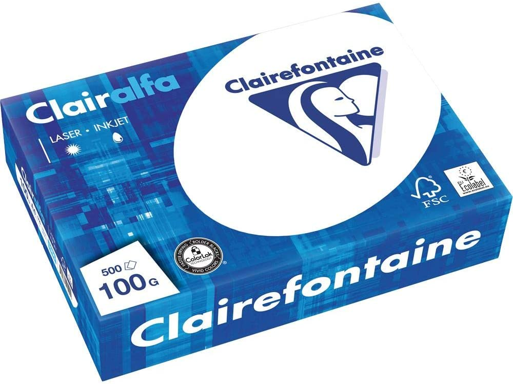 Clairefontaine 2895C Clairalfa Copy Paper DIN A3 90 g//m/² 500 Sheets White