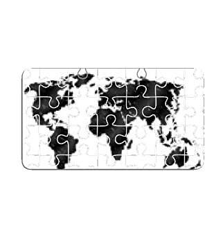 Hand drawn world map in three versions. Sketch of global map Puzzle ...