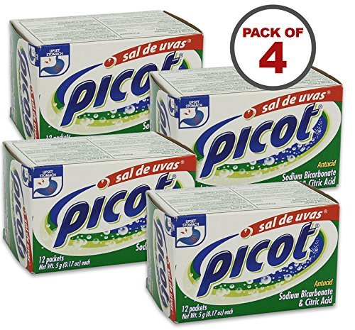 Price comparison product image Picot 5 Gram Packets Sal De Uvas 12 Count, Pack of 4