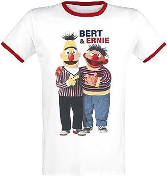 fa8e4a440a Sesamstraße Ernie & Bert T-Shirt weiß/rot XXL: Amazon.de: Bekleidung
