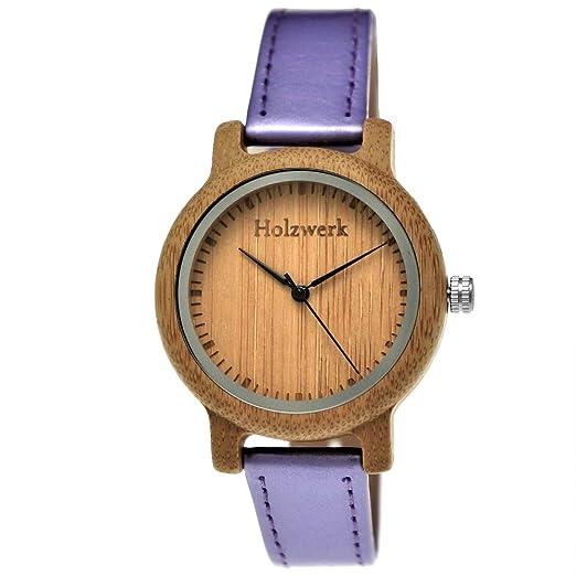 Hecha a mano de madera de Alemania® – Reloj de mujer niña de reloj Certificado