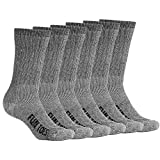 FUN TOES Men's Merino Wool Socks 6 PAIRS Value- Lightweight,Reinforced-Size 8-12