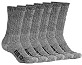 FUN TOES Men's Merino Wool Socks -6 Pack Value- Lightweight,Reinforced-Size 8-12 (Blue)
