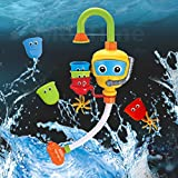 MorTime Bath Toy of Bathtub Water Shower Fountain with Three Stackable Cups, Creating an Endless Water Flow By Three Exchangeable Cups (Bathtub Water Shower) (large)