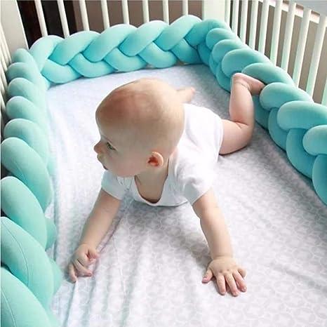 Amazon.com: Valla de tejido de cuna para bebé, parachoques ...