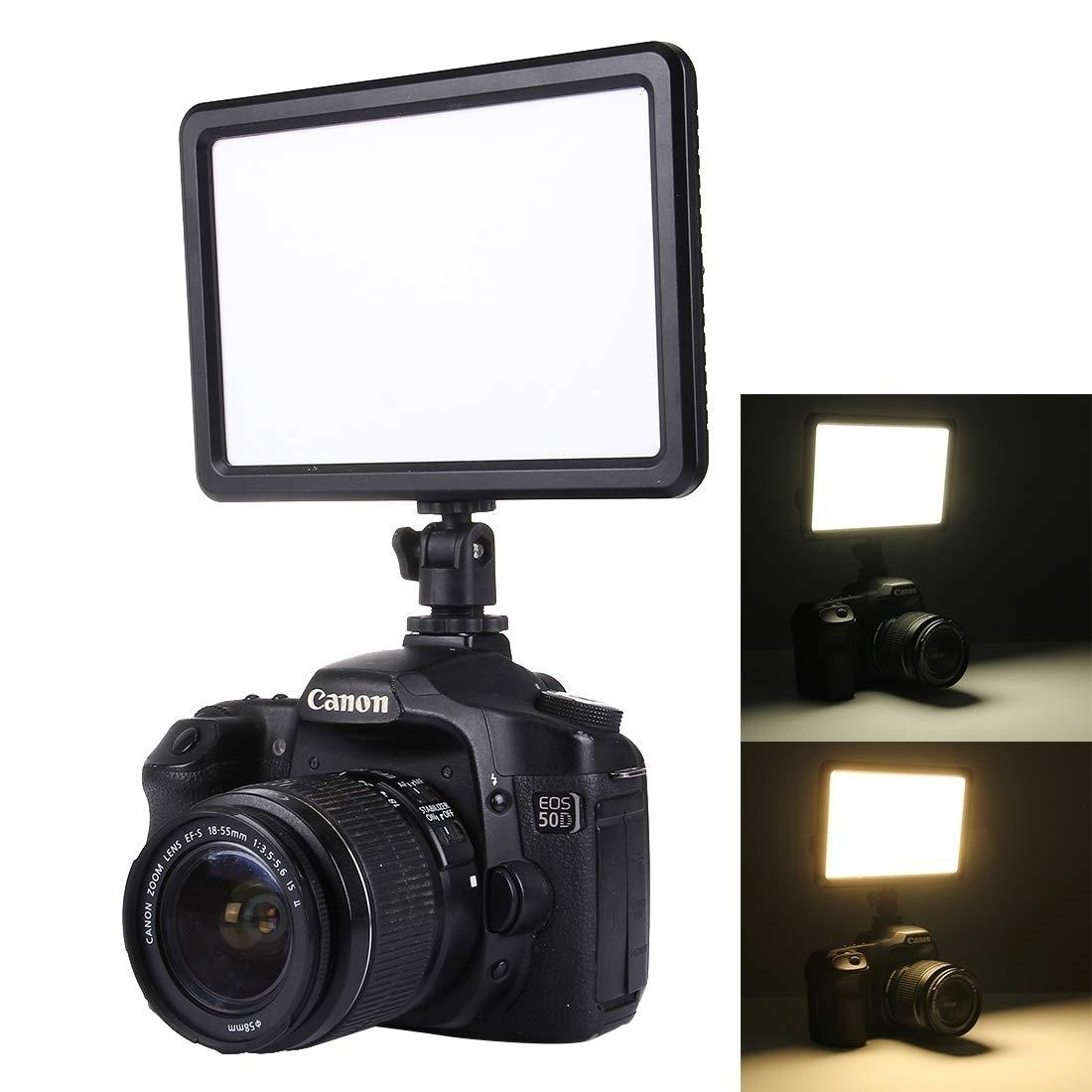 カメラ用 LED-006 104 LED 850LM調光可能なビデオライトオンカメラ写真照明フィルライト対応Canon Nikon DSLRカメラ カメラアクセサリー   B07QBZWYB2