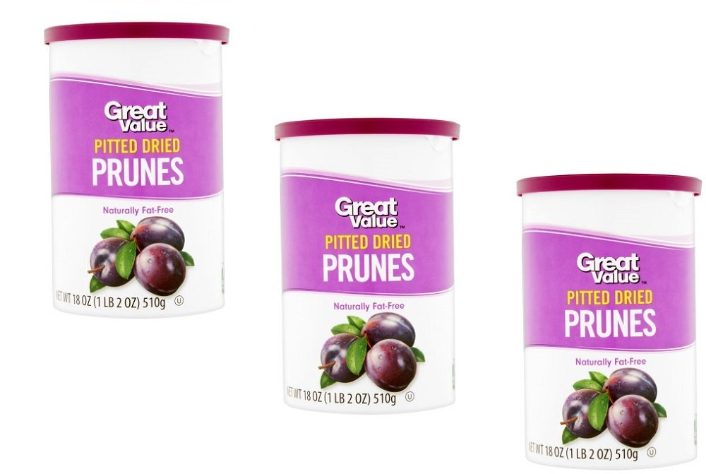 Pack of 3 - Great Value Pitted Dried Prunes, 18 oz