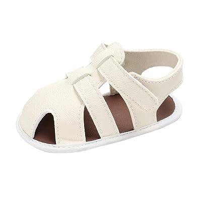 Bonjouree Chaussures Bébé Garçons Mignons Prewalker Mou T-Attaché Sandales  Souple (11CM / 0