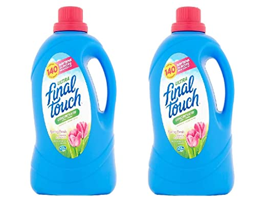 Amazon.com: Final Touch Ultra Spring Fresh Concentrated Fabric Softener, 140 Loads, 120 Fl Oz (1): Health & Personal Care