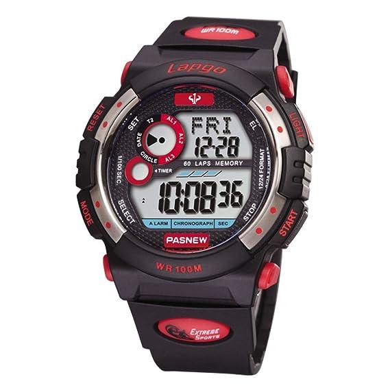 Reloj estudiantil multi - función electrónica luminosa impermeable running deportes al aire libre-D: Amazon.es: Relojes
