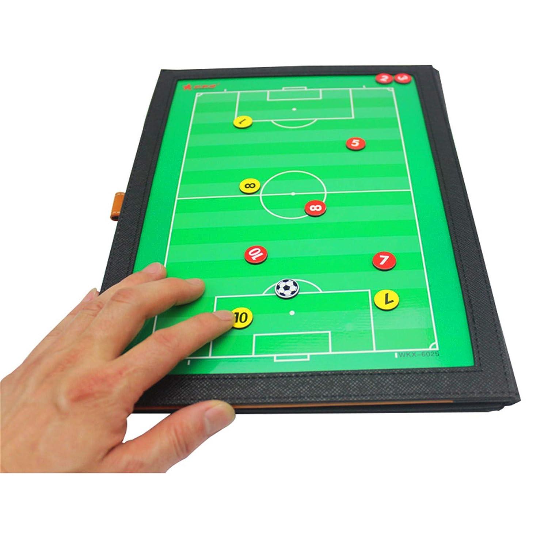 Dimensioni LaceDaisy Cartella Tattica Calcio Kit Allenatore di Calcio Lavagna Calcio per Organizzazione Giocatori Tattiche e Strategie 48 x 32 cm