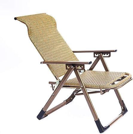 Huahua Furniture Tumbona, Silla de jardín - Silla Plegable con Respaldo Ajustable - Sillón Relax Adecuado para Uso en jardín y terraza: Amazon.es: Hogar