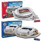 [Nanostad 2 piece set] Arsenal (Emirates) and Chelsea (Stamford Bridge) Stadium 3D puzzle