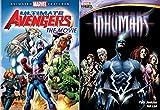 Marvel Knights Inhumans & The Ultimate Avengers Animated Movie Marvel DVD - Super hero cartoon Bundle Set