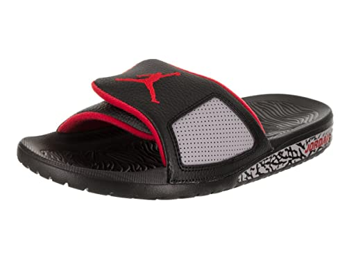 8092663a6 Jordan Men s Hydro III Retro Slide Sandal Black University Red (9 D(M