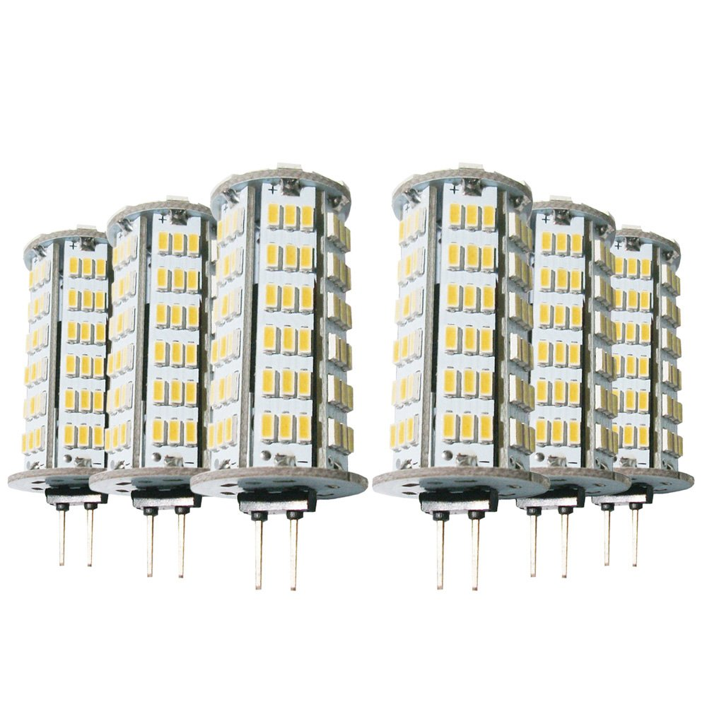 Warm White LL G4 5W 400-500LM 3014SMD 126LED 2800-3200 6000-6500K LED Light Cool White AC 12V   DC 12-24V (6pcs) (Size   Warm White)