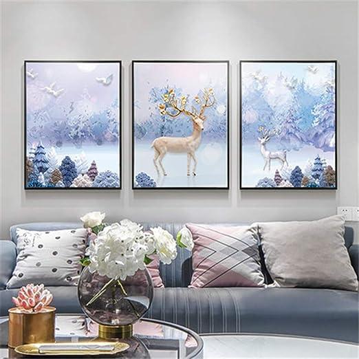 Pintura Del Arte Hd Pintura Decorativa Mural Triple ...