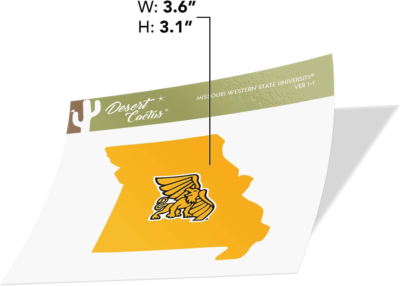 Missouri Western State University MWSU Griffons NCAA Vinyl Decal Laptop Water Bottle Car Scrapbook State Boarder Sticker