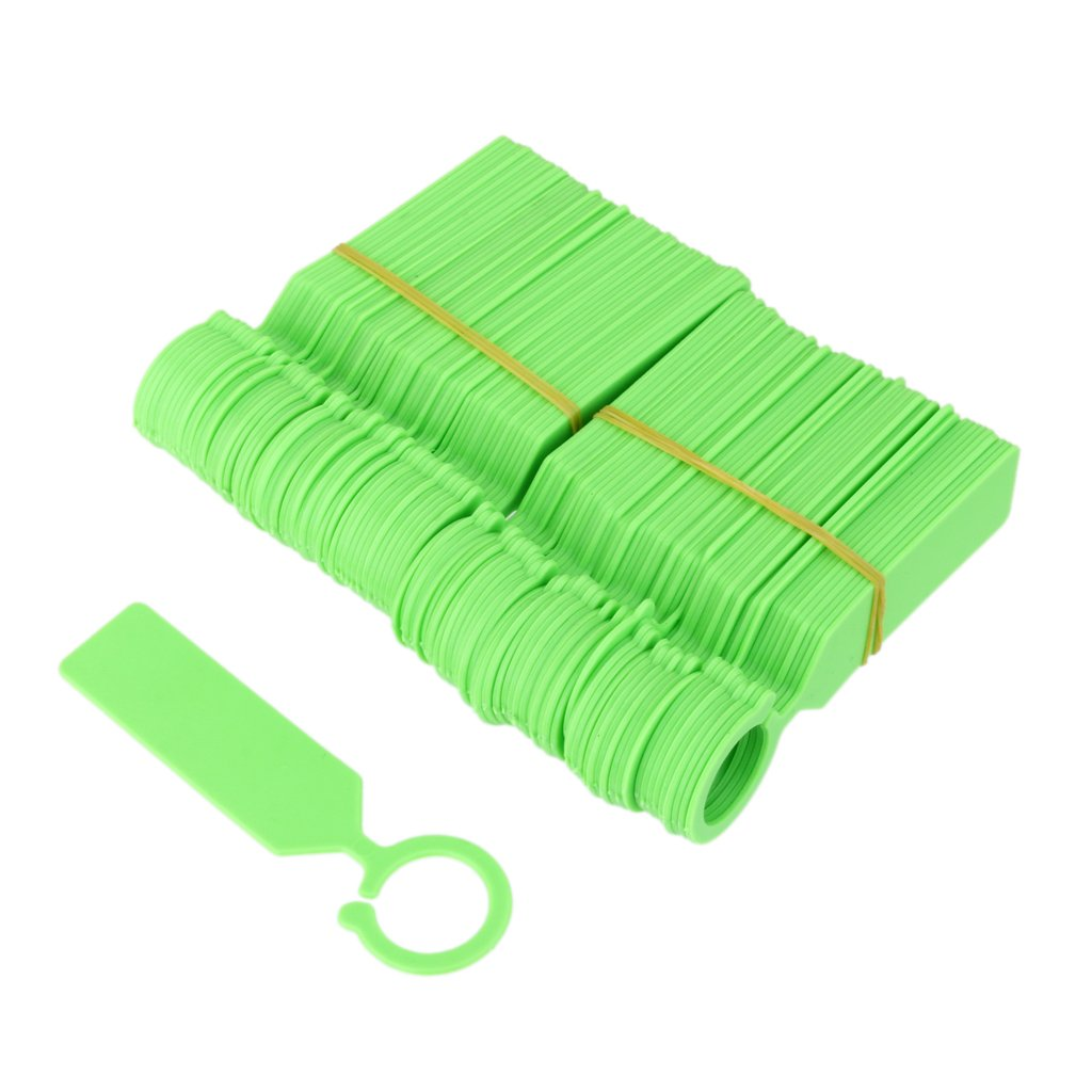 MagiDeal 100pcs PP Greenhouse Gardening Plant Ring Hanging Collar Tag Label Green by MagiDeal