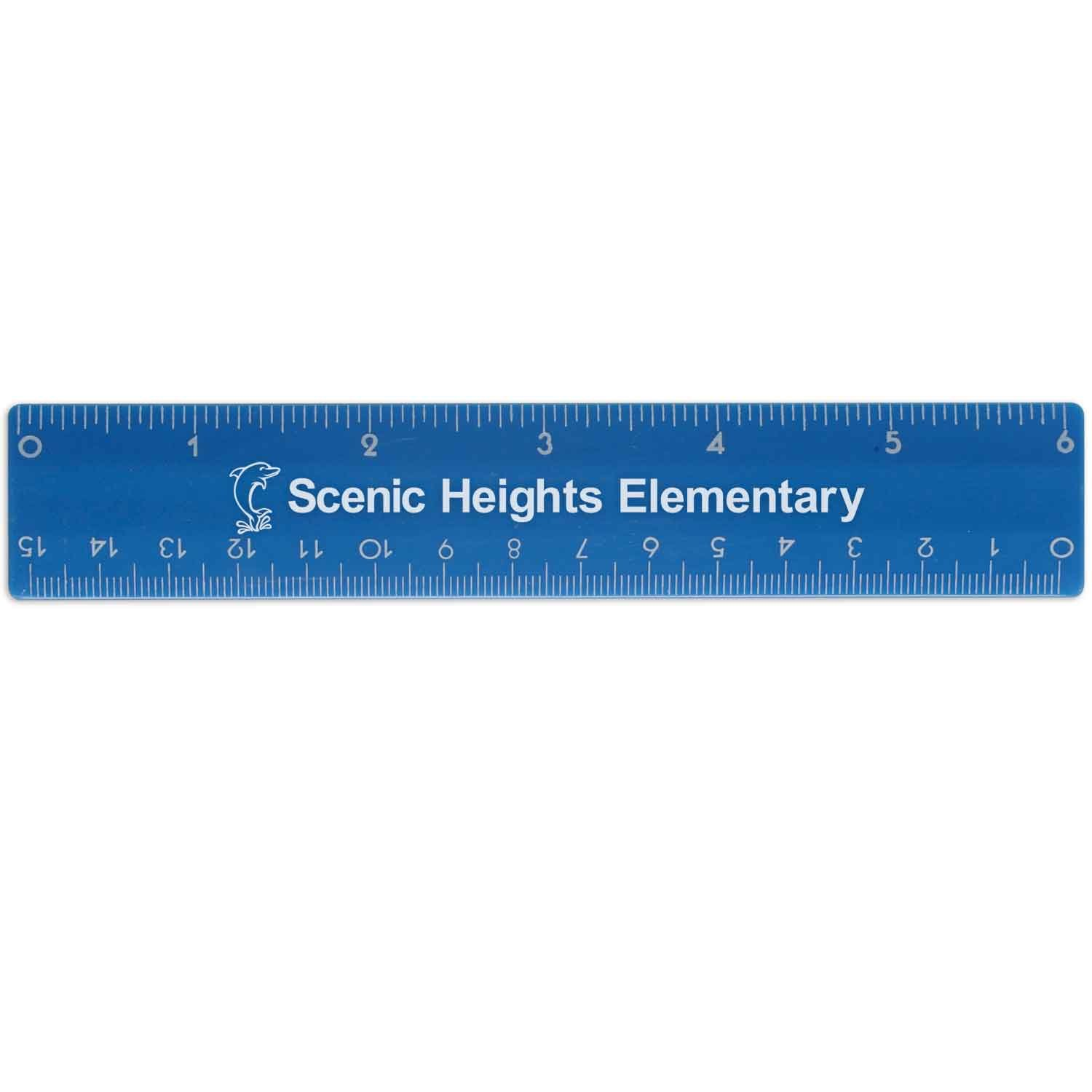 250 USA Made Personalized 6'' Plastic Ruler Printed with Logo / Message