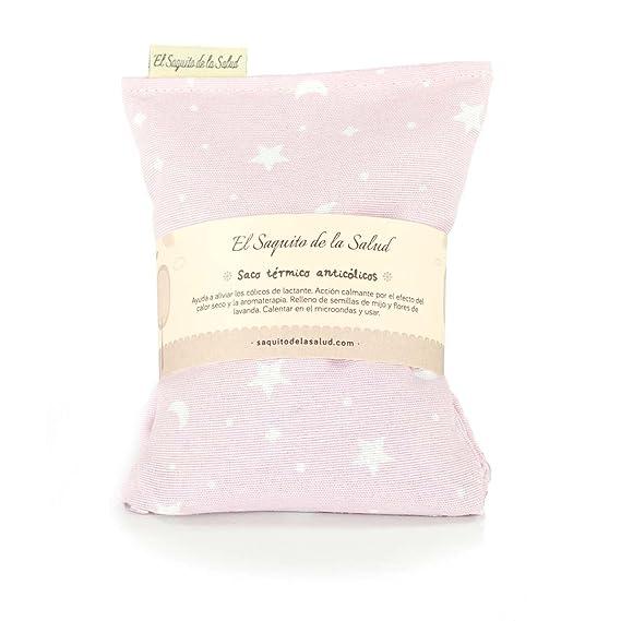 Saco Térmico de Semillas Anti Cólico del Lactante aroma a Lavanda Rosa con Estrellitas