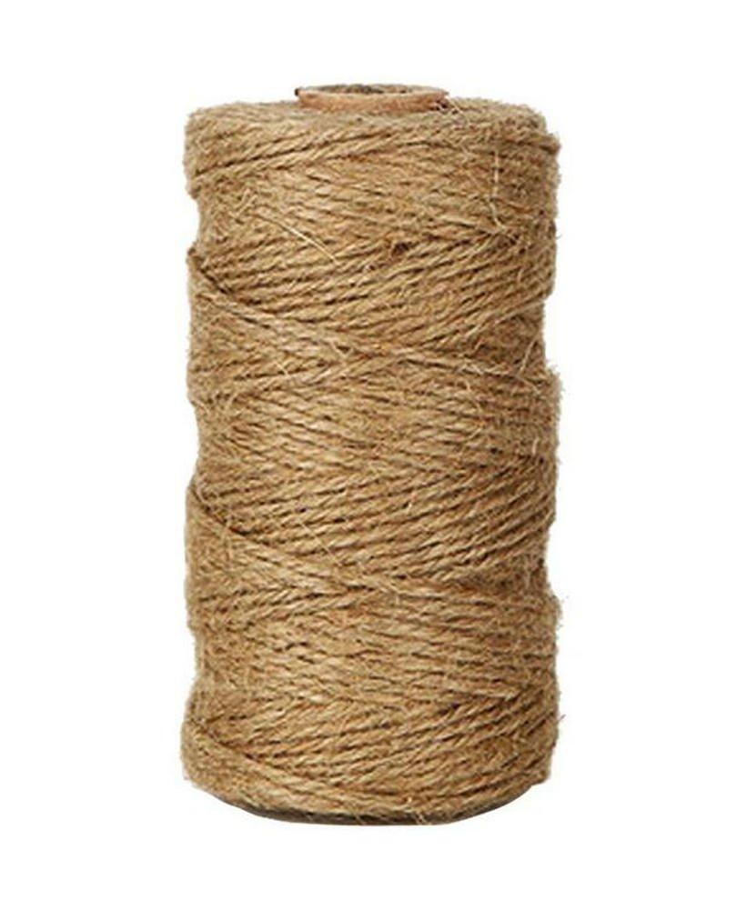 itemer 328 pies/100 metros de cordel de yute natural cuerda de cá ñ amo cordel de regalo artes manualidades 1, 0 mm 0mm