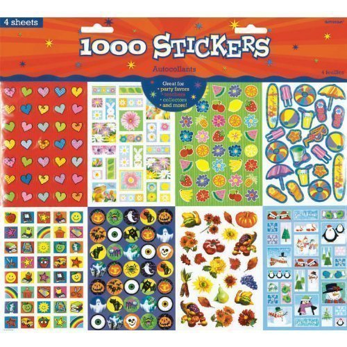 Amscan All Year Around Stickers (1000 Count) (Weather Stickers)