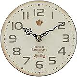 キーストーン 置き時計・掛け時計 ショコラ 高さ/約 幅/約14.5cm, 奥行/約3cm オールドルック テーブルクロック OLCLTACH