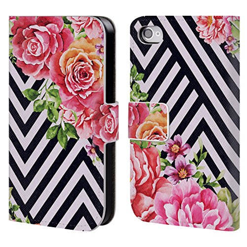 Officiel Mark Ashkenazi Fleur Géométrique Fleurs Étui Coque De Livre En Cuir Pour Apple iPhone 4 / 4S